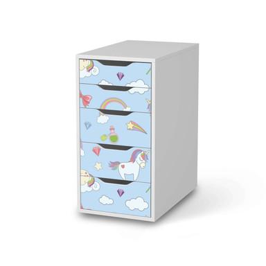 Klebefolie IKEA Alex 5 Schubladen - Rainbow Unicorn