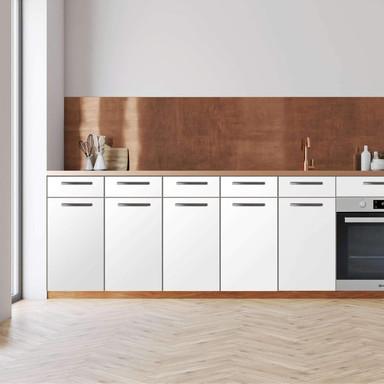 Küchenfolie - Unterschrank 160cm Breite - Weiss