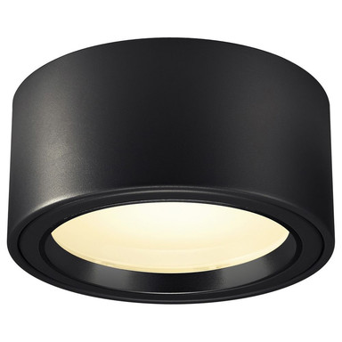 LED Deckenleuchte Fera in Schwarz 21W 2000lm