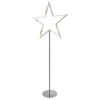 LED Sternstehleuchte Lucy in Chrom 5W 130cm