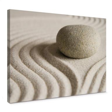 Leinwandbild Stone in Sand 1