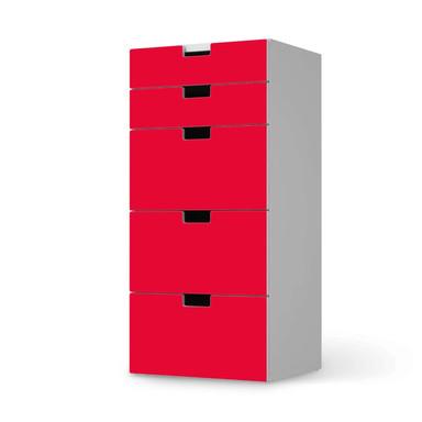 Möbel Klebefolie IKEA Stuva / Malad Kommode - 5 Schubladen - Rot Light