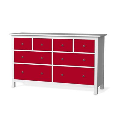 Möbelfolie IKEA Hemnes Kommode 8 Schubladen - Rot Dark