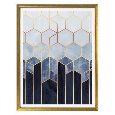 Poster Fredriksson - Hexagone: Blau und Weiss