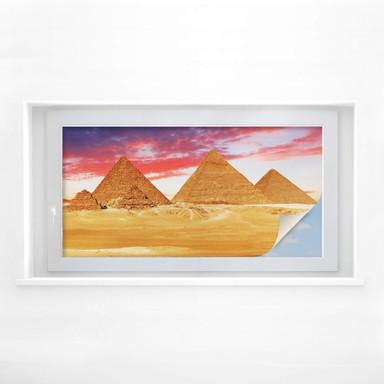 Sichtschutzfolie Die Pyramiden von Gizeh - Panorama