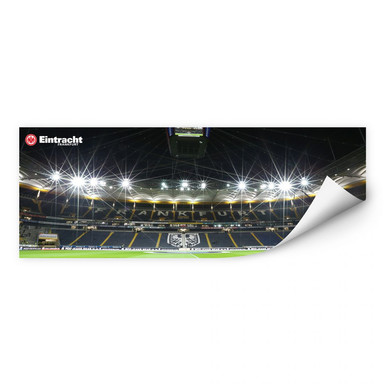 Wallprint Eintracht Frankfurt Nacht - Panorama
