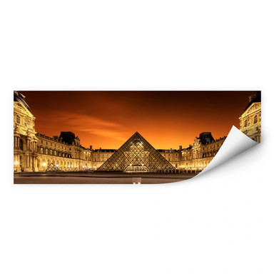 Wallprint Kiciak - Illuminated Louvre