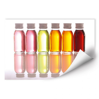 Wallprint Oil Bottles