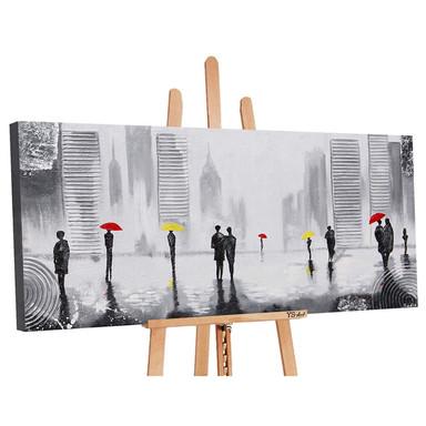 Acryl Gemälde handgemalt Angenehmes Treffen 140x70cm - Bild 1
