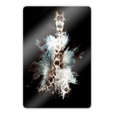 Glasbild Hugonnard - Wild Explosion: Giraffe