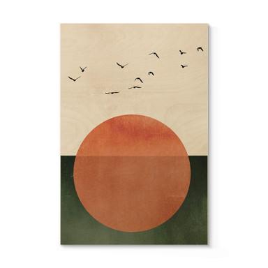 Holzposter Kubistika - Sommertag