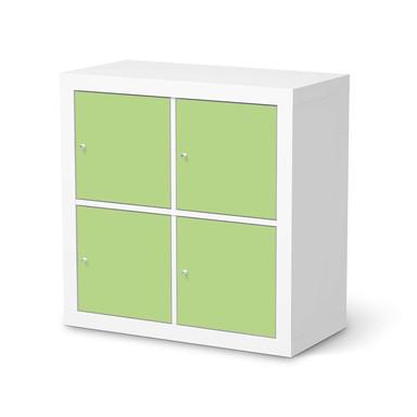 Klebefolie IKEA Kallax Regal 4 Türen - Hellgrün Light