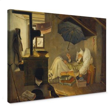 Leinwandbild Spitzweg - Der arme Poet