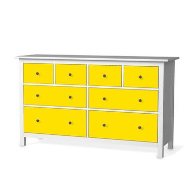 Möbelfolie IKEA Hemnes Kommode 8 Schubladen - Gelb Dark