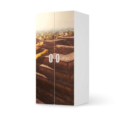 Möbelfolie IKEA Stuva / Fritids Schrank - 2 grosse Türen - Teotihuacan