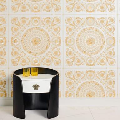 Versace wallpaper Vliestapete Heritage Tapete metallic, creme, beige