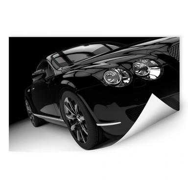 Wallprint Metallic Car Black 02