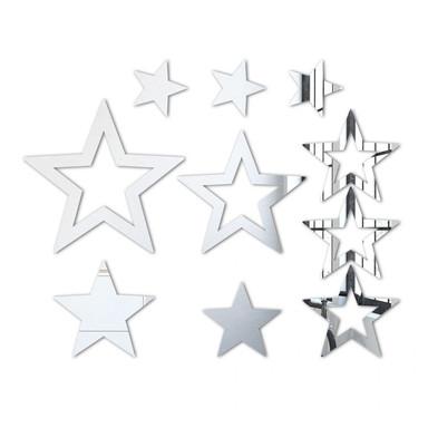 Wandspiegel Sternenset (10-teilig)