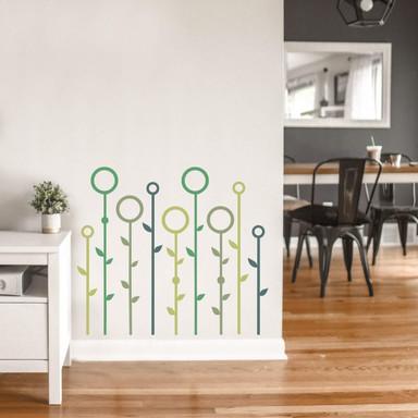 Wandsticker Wiese abstrakt