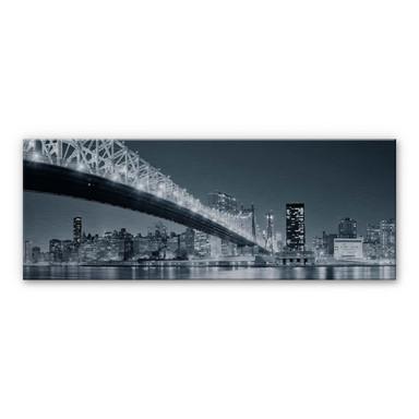 Alu Dibond Bild New York at Night 3 - Panorama