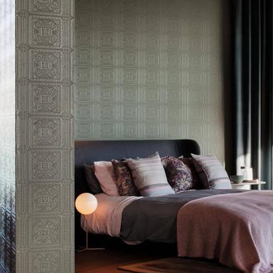 Anaglypta® Turner Tile Luxuriöse strukturierte Vinyltapete überstreichbar, weiss