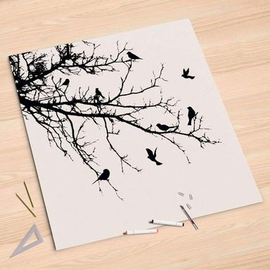 Folienbogen (90x90cm) - Tree and Birds 1