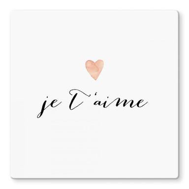 Glasbild Confetti & Cream - Je t'aime