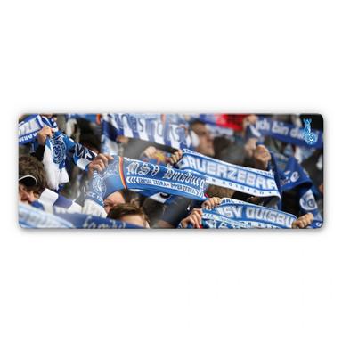Glasbild MSV Duisburg Fanschals