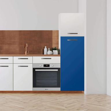 Klebefolie - Hochschrank (60x140cm) - Blau Dark- Bild 1