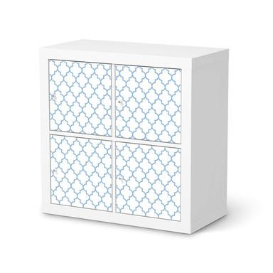 Klebefolie IKEA Kallax Regal 4 Türen - Retro Pattern - Blau
