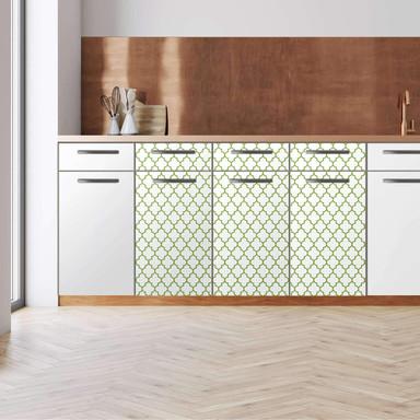 Küchenfolie - Unterschrank 120cm Breite - Retro Pattern - Grün