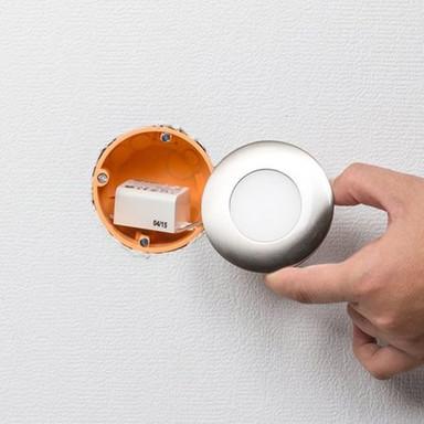 LED Panel edelstahl 2700K warmweiss 12 LED 2.2W inkl. Vorschaltgerät