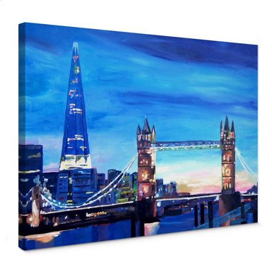 Leinwandbild Bleichner - London Tower Bridge und The Shard