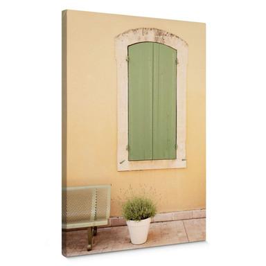 Leinwandbild Hugonnard - Grünes Holzfenster