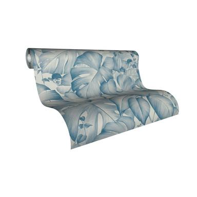 Livingwalls Vliestapete Colibri Tapete in Dschungel Optik blau, weiss