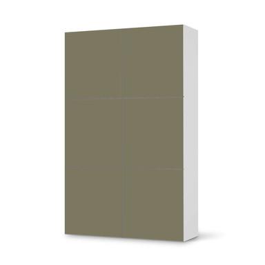 Möbel Klebefolie IKEA Besta Schrank 6 Türen (hoch) - Braungrau Light- Bild 1
