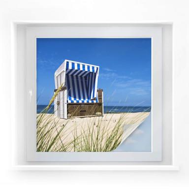 Sichtschutzfolie Strandkorb - quadratisch