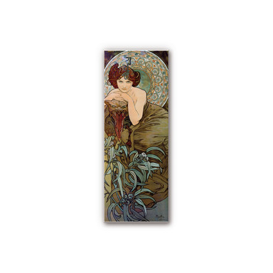 Wandbild Mucha - Edelsteine: Smaragd