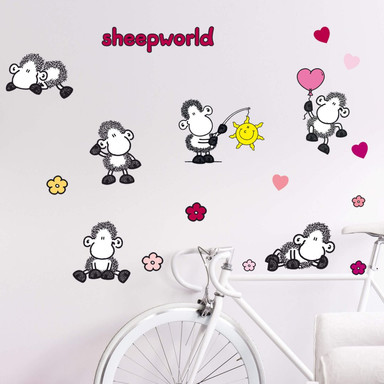 Wandsticker sheepworld Set