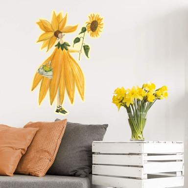 Wandtattoo Leffler - Sonnenblumenmädchen