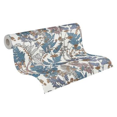 Architects Paper Vliestapete Floral Impression Blumentapete floral blau, creme, beige, gelb, grau