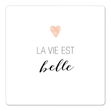 Glasbild Confetti & Cream - La vie est belle