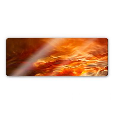 Glasbild Marthinussen - Burning Water - Panorama