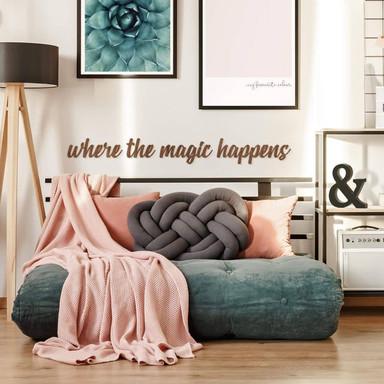 Holzbuchstaben Mahagoni Where the magic happens