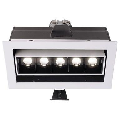LED Deckeneinbauleuchte Ceti 5 Adjust in Weiss-Matt und Schwarz 10W 640lm