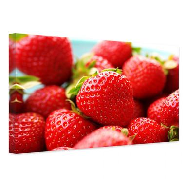 Leinwandbild Erdbeeren aus dem Garten