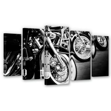 Leinwandbild Motorcycle Wheels (5-teilig)