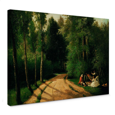 Leinwandbild Pissarro - Picknick in Montmorency