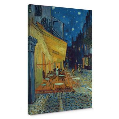 Leinwandbild van Gogh - Café-Terrasse am Abend