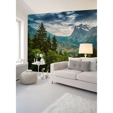 Livingwalls Fototapete Designwalls Mountain Views Wald